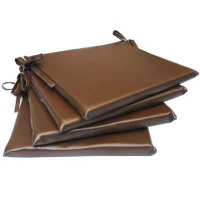 Almohadón decorativo silla cuerina chocolate