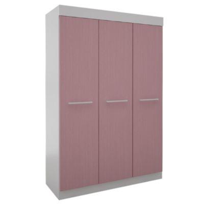 Placard 3 puertas con 2 cajones juvenil rosa