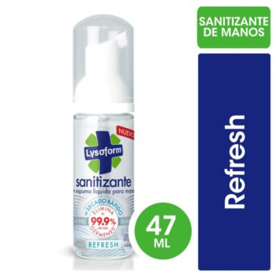 Desinfectante en aerosol sanitizante refresh 47 cc