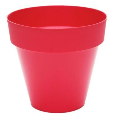 Maceta cónica plástica roja