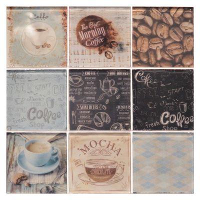 Malla 30 x 30 Mosaico Cafetal mix celeste