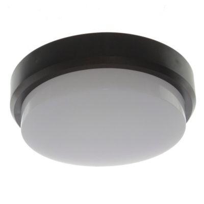 Tortuga Led policarbonato redonda negra 12 w 4000K
