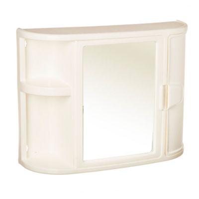 Botiquin para baño con espejo blanco