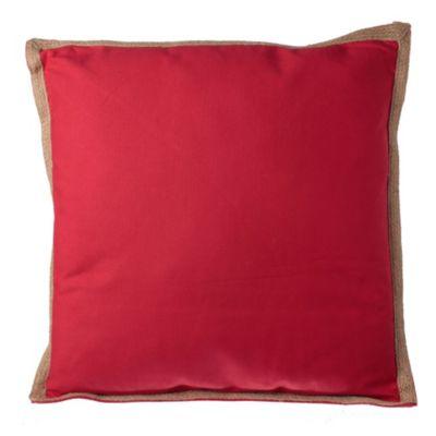 Almohadón para silla Terraza Yute rojo 50 x 50 cm