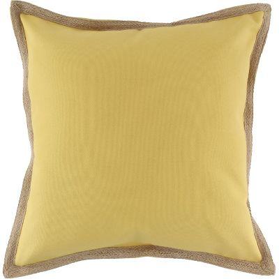 Almohadón para silla Terraza Yute amarillo 50 x 50 cm