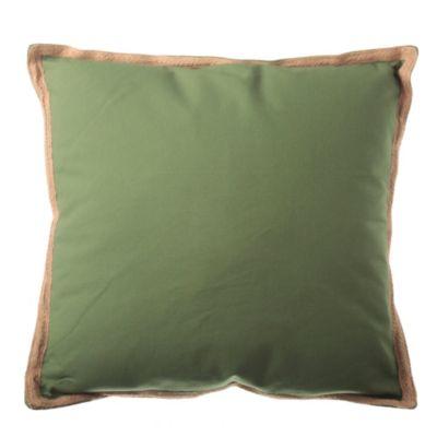Almohadón para silla Terraza Yute verde 50 x 50 cm