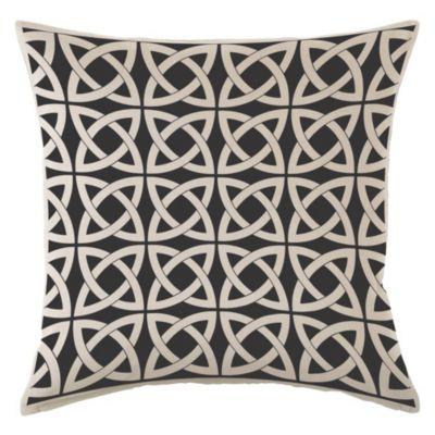 Almohadón decorativo panamá infinit negro 40x40 cm