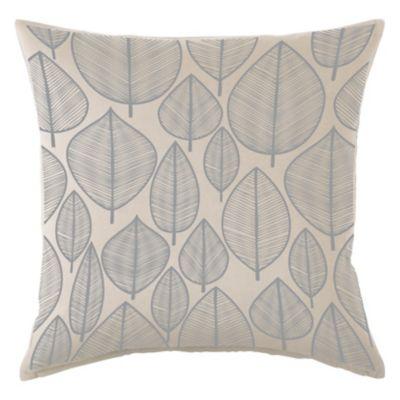 Almohadón decorativo panamá hojas gris 40x40 cm