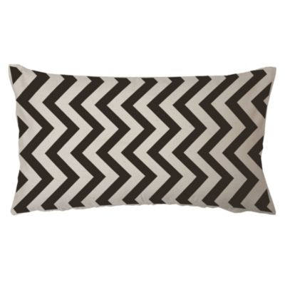 Almohadón decorativo panamá zigzag negro 60x30 cm