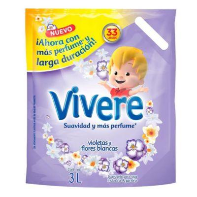 Suavizante para ropa violetas y flores  3 L