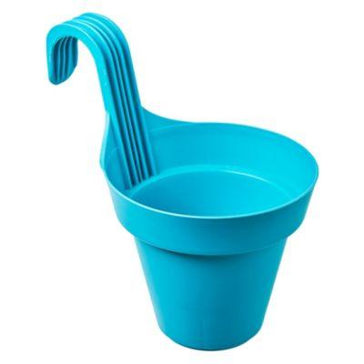 Maceta de plástico de  balcón azul