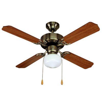 Ventilador de techo Yves 1 Luz 4 Aspas bronce