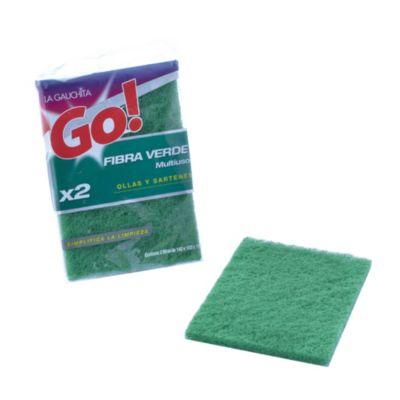 Esponja fibra verde x2
