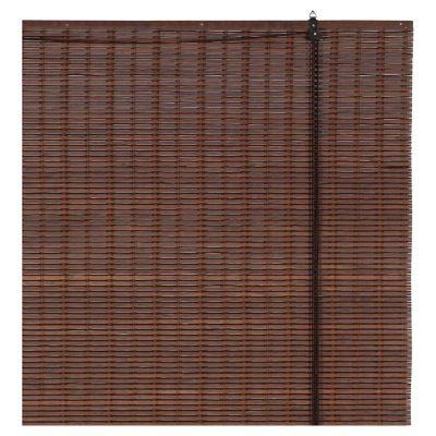 Cortina enrollable bambú café bi 80 x 165 cm
