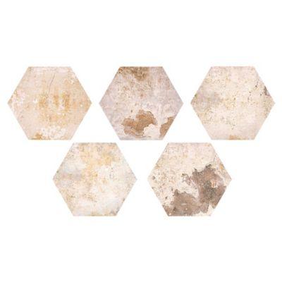 Cerámica 26 x 30 Hexagonal beige 0.586 m2