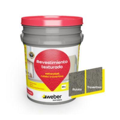 Revestimiento texturado Weberplast RTM gris plomo 30 kg