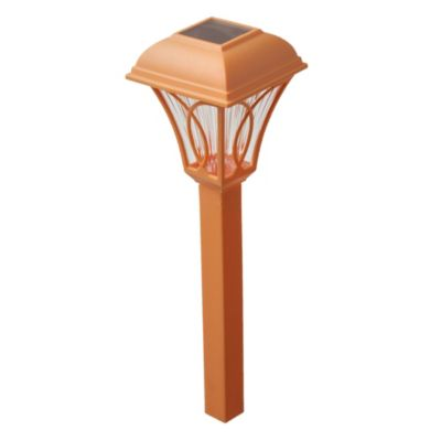 Estaca solar LED naranja 35 cm