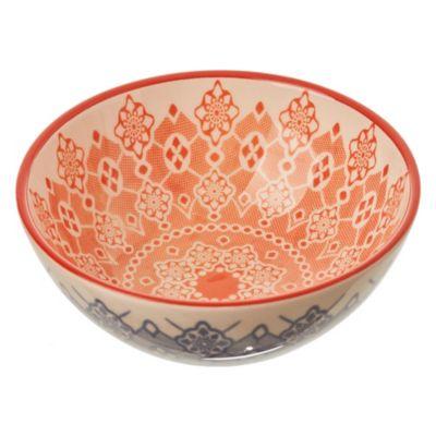 Bowl celeste y naranja 16 cm
