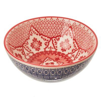 Bowl azul y rojo 16 cm