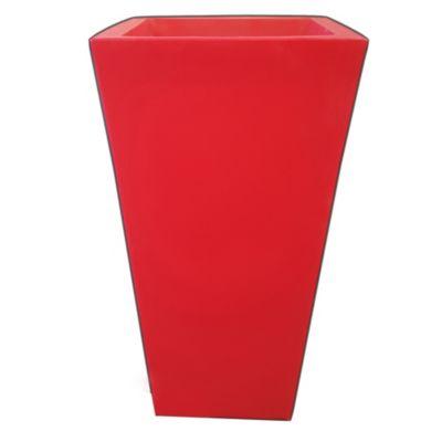 Maceta piramidal rotomoldeada 25x48 rojo