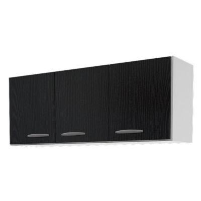 Alacena con tres puertas Moscú 120 cm fresno negro