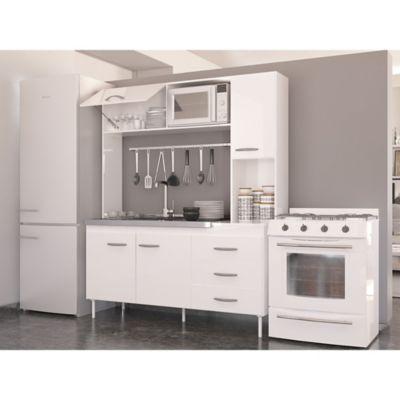 Cocina compacta New Moscú blanco