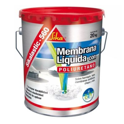 Membrana blanca impermeabilizante líquida Sikalastic 560 para techos 20 kg