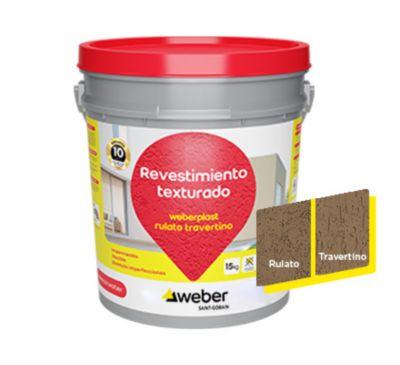Revestimiento texturado Weberplast RTM cuero 15 kg