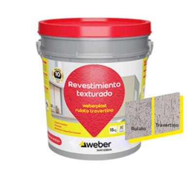 Revestimiento texturado Weberplast RTM vision 15 kg