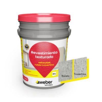 Revestimiento texturado Weberplast RTM gris perla 30 kg