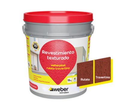 Revestimiento texturado Weberplast RTM terracota 15 kg