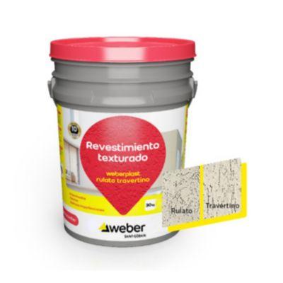 Revestimiento texturado Weberplast RTM champagne 30 kg