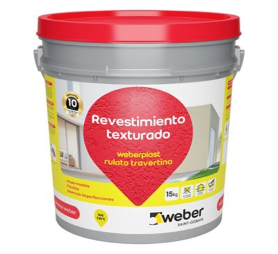 Revestimiento texturado Weberplast RTM champagne 15 kg