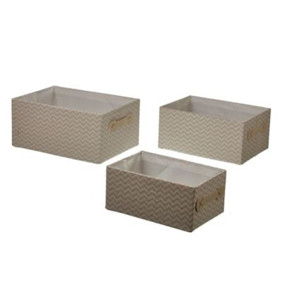 Set de 3 cajas zigzag 35/31/27 cm