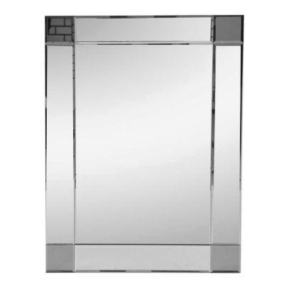 Espejo para baño marco oscuro 50 x 70 cm