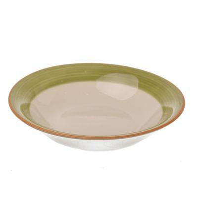 Plato hondo de cerámica verde