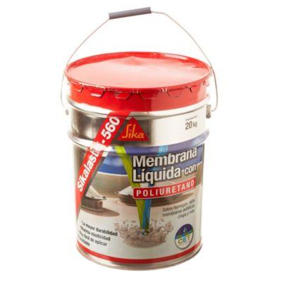 Membrana roja impermeabilizante líquida Sikalastic 560 para techos 20 kg