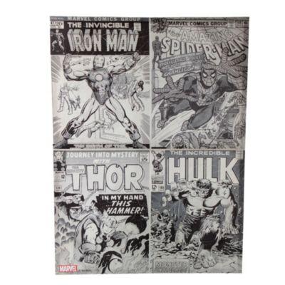 Canvas Marvel blanco y negro