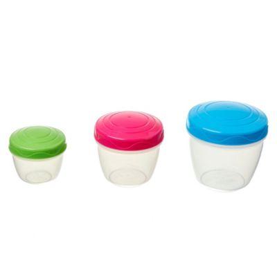 Set 3 contenedores herméticos para snacks
