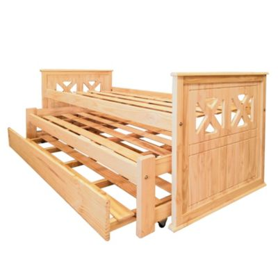 Cama triple de madera de pino