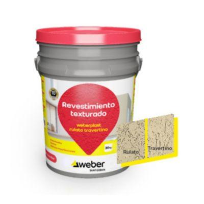 Revestimiento texturado Weberplast RTM piedra paris 30 kg