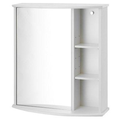 Botiquín para baño 58 x 66 x 22 cm con espejo y repisa blanco