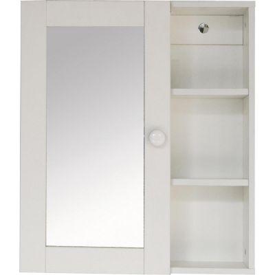 Botiquín con espejo y repisa 45 x 52 x 16 cm blanco