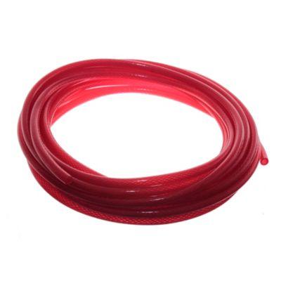 Manguera transparente roja 6 mm  10 m