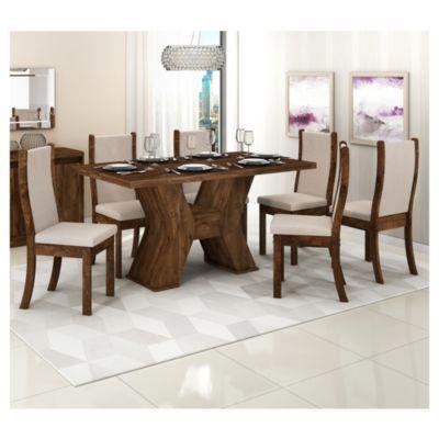Set comedor Malta Montana mesa + 6 sillas - Delos - 2469162