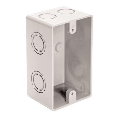 Caja PVC rectangular 65 x 110 x 52 blanca