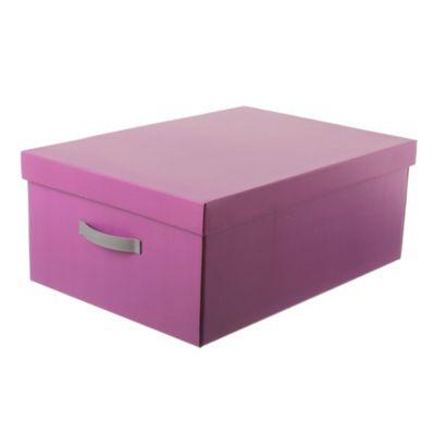 Caja M mate con tapa violeta