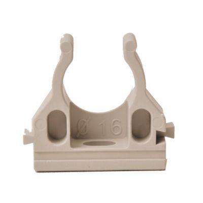 Grampa abierta PVC 16 mm x5 unidades