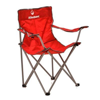 Silla de camping con apoya brazo rojo