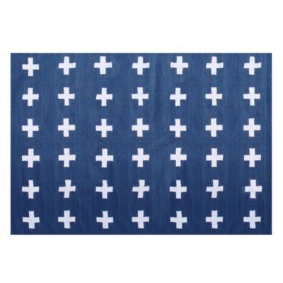 PP Alfombra savona azul 140 x 200 cm